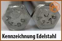 Kennzeichnung Edelstahl
