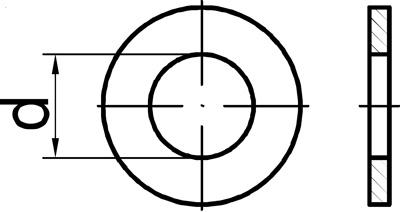 Zeichnung DIN125 mit Durchmesser