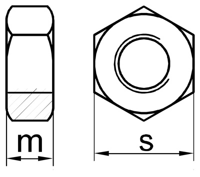Zeichnung DIN 934